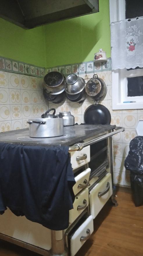 Cuisinière old style à Punta Arenas