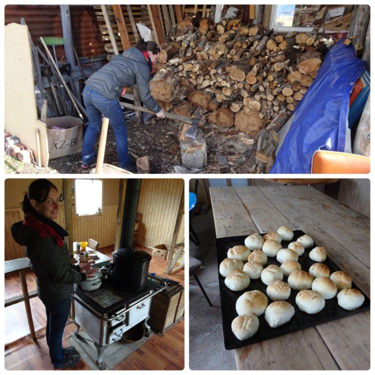 Vie quotidienne : couper du bois, faire du pain et se réchauffer comme on peut !