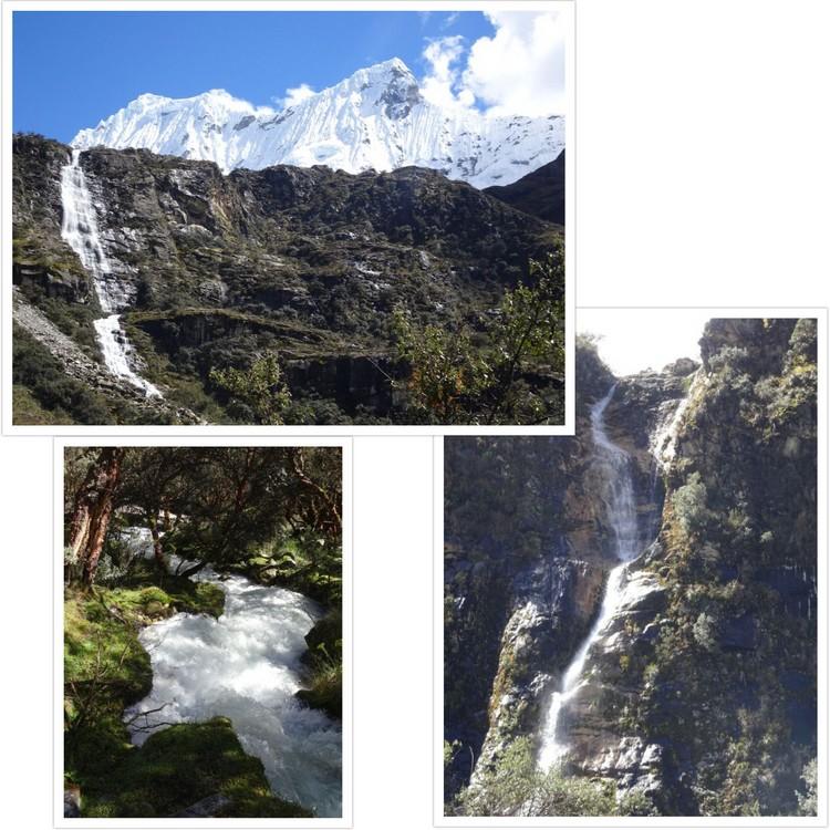 Cascades et torrent dans le fond de la vallée du Rio Ranrahirca