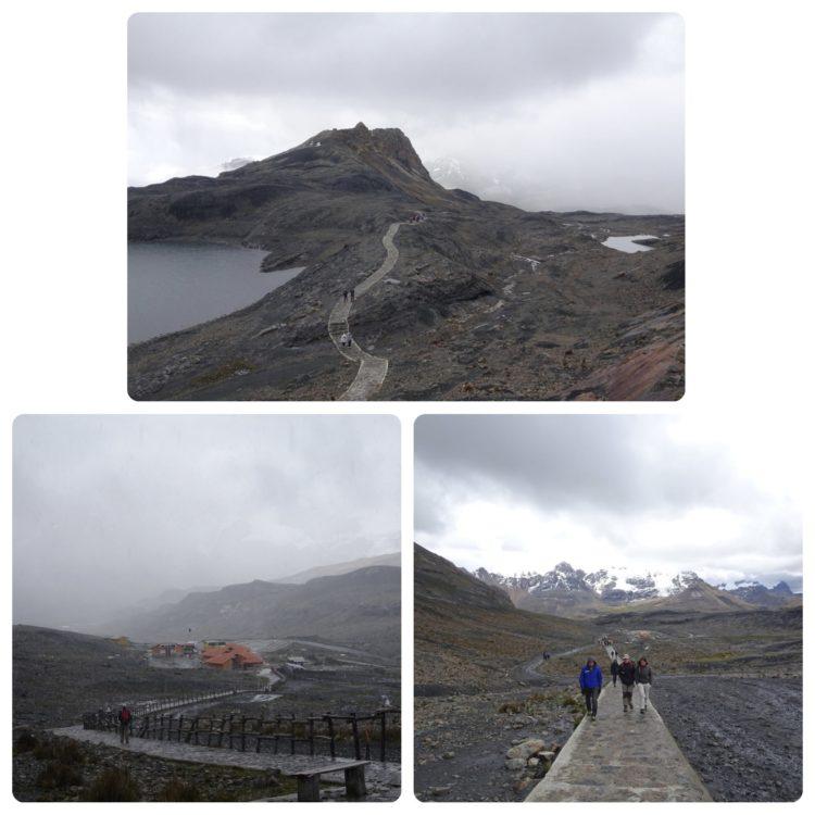 Chemin pour accéder au glacier Pastoruri. Un air de murail de chine ^^