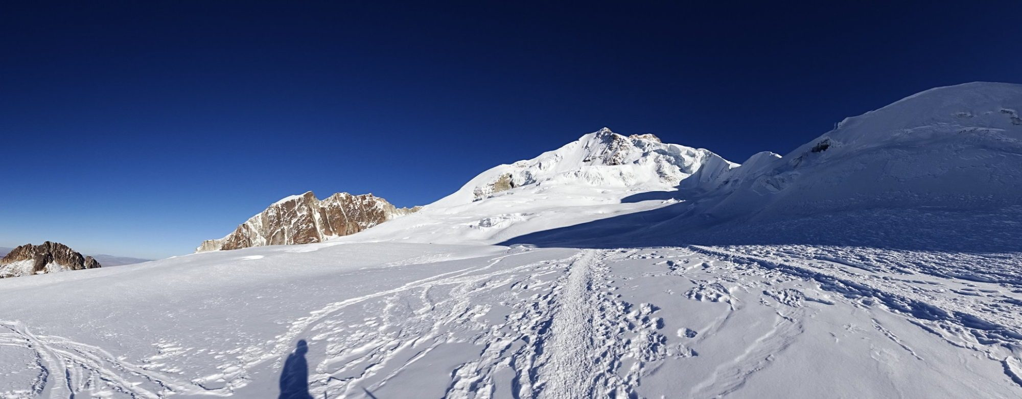 Panorama du Huayna Potosi depuis le campo Argentino