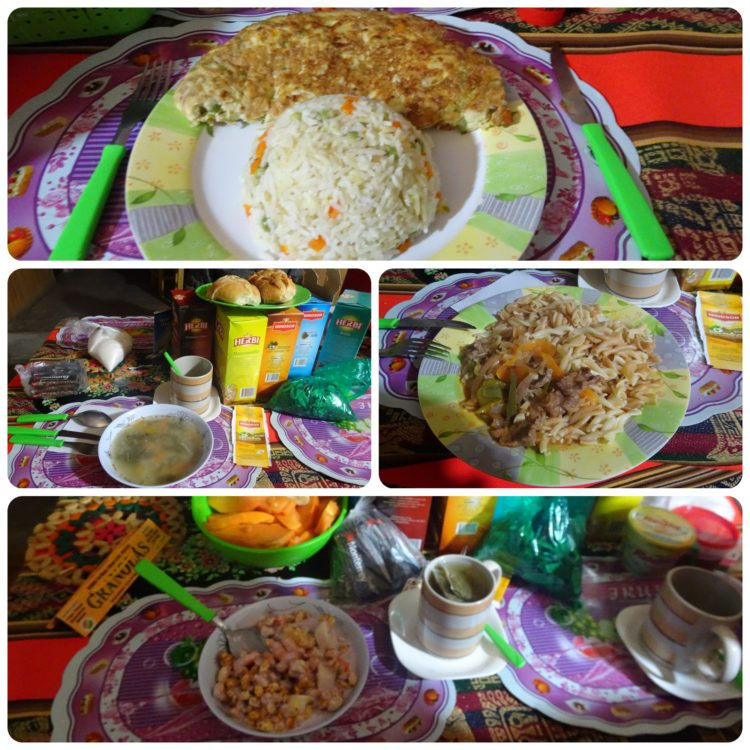 Les 2 repas du 1er jour (midi et soir)