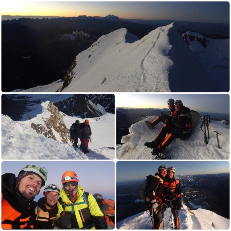 Au sommet du Huayna Potosi