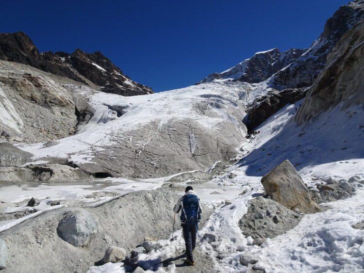 Vieux glacier où on fera nos exercices de cramponnage