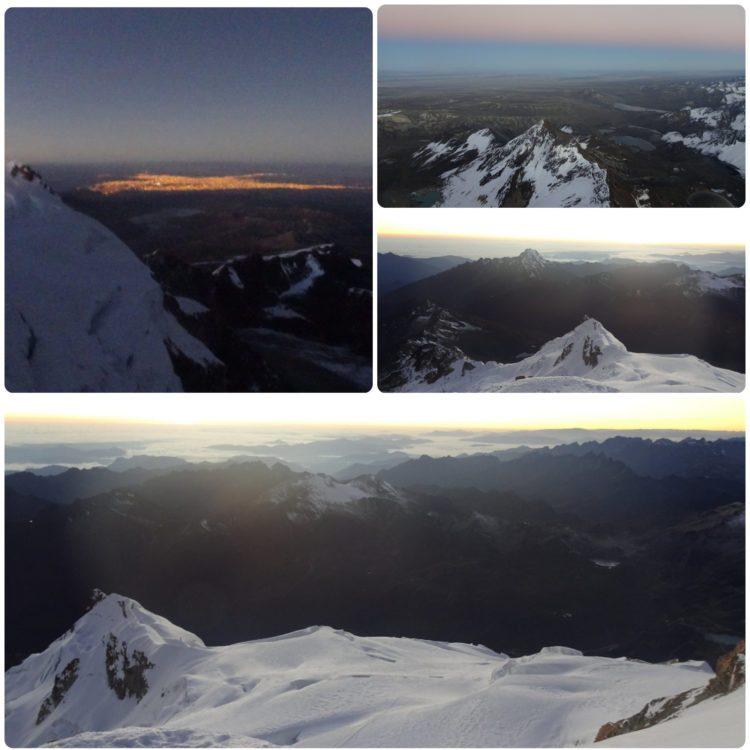 Vues du sommet du Huayna Potosi