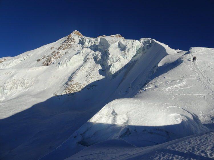 Vue sur le Huayna Potosi en descendant