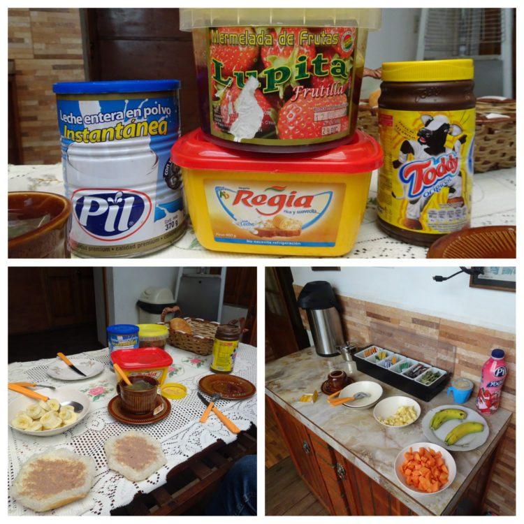Dernier petit-déjeuner à l'hôtel et en Amérique du Sud !
