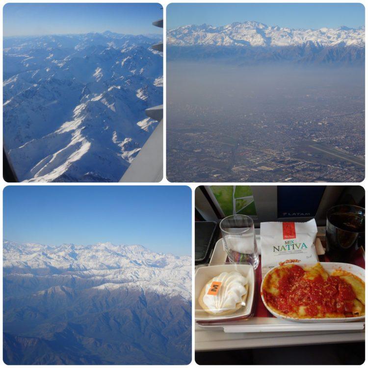 Passage des Andes et pollution sur Santiago de Chile