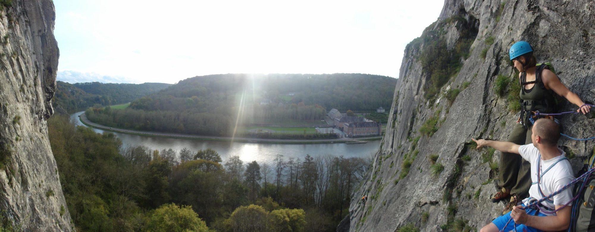 Vue panoramique depuis un relai à Freyr