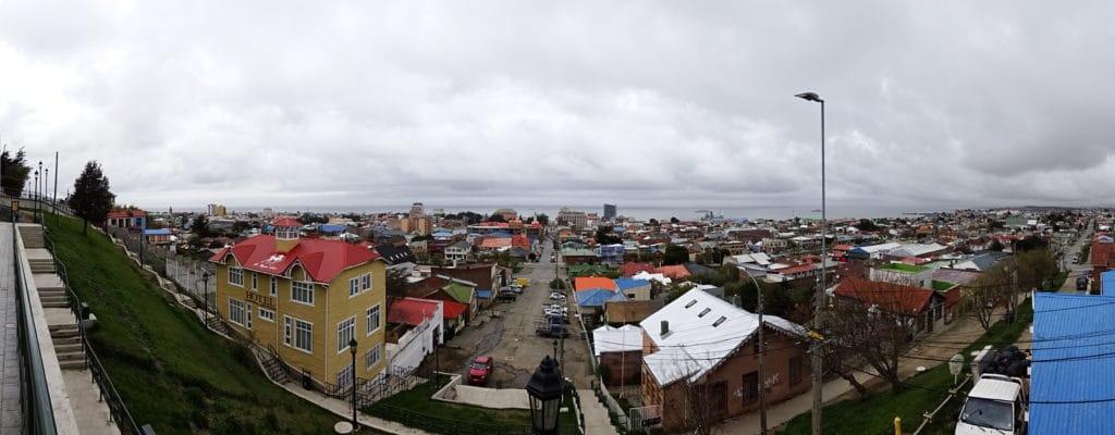 Vue sur la ville de Punta Arenas depuis le mirador
