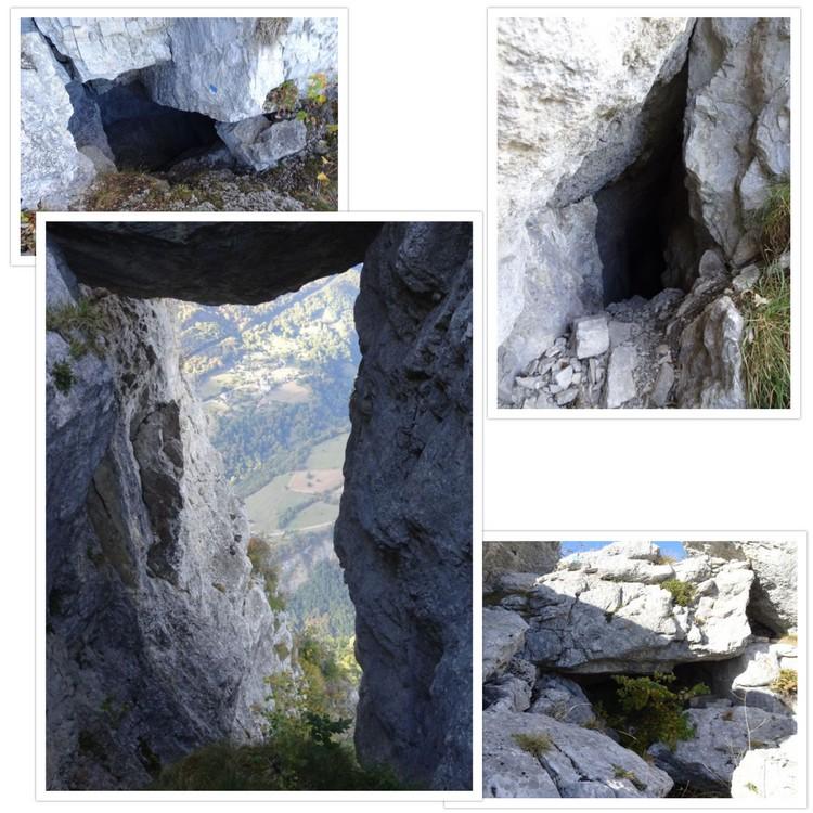 Quelques accès de la grotte du Colonel Brun