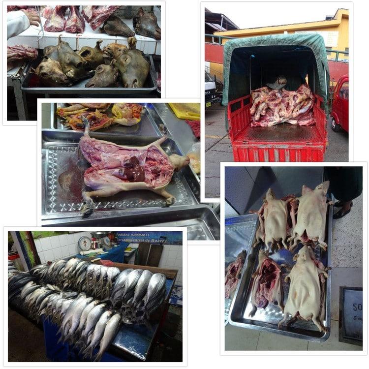 Les plaisirs du mercado central de Huaraz ... miam ou beurk, c'est selon...