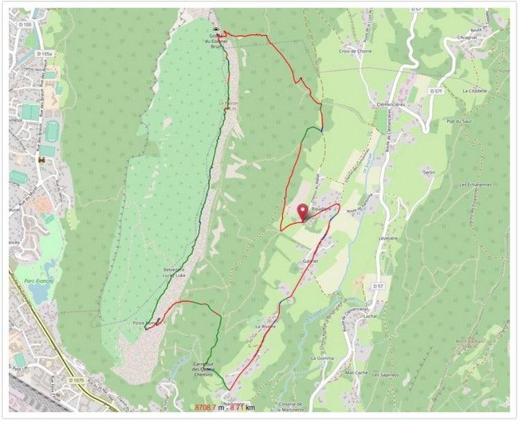 Trace GPS de notre parcours