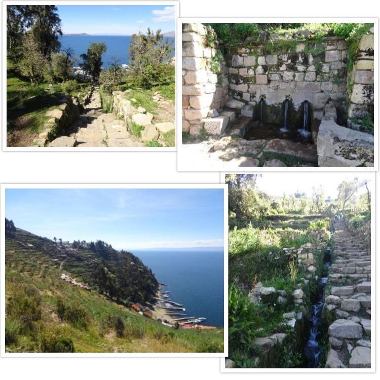 Escalier et source de l'Inca