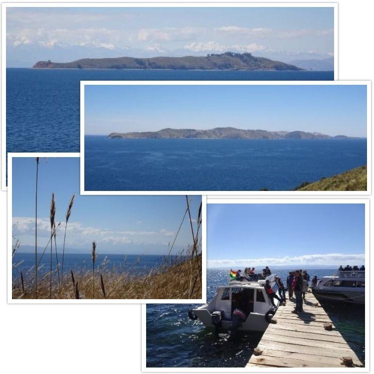 Vue sur l'Isla de la Luna et sur l'Isla del Sol