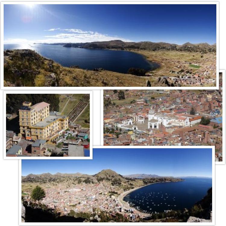 Nous profitons également de la vue sur Copacabana, le lac Titicaca et notre hôtel !